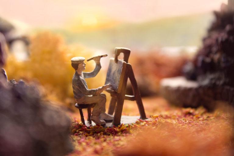 Miniaturlandschaft Maler