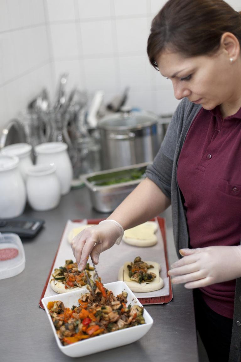 Küche Zubereitung Paninis Imagefotografie