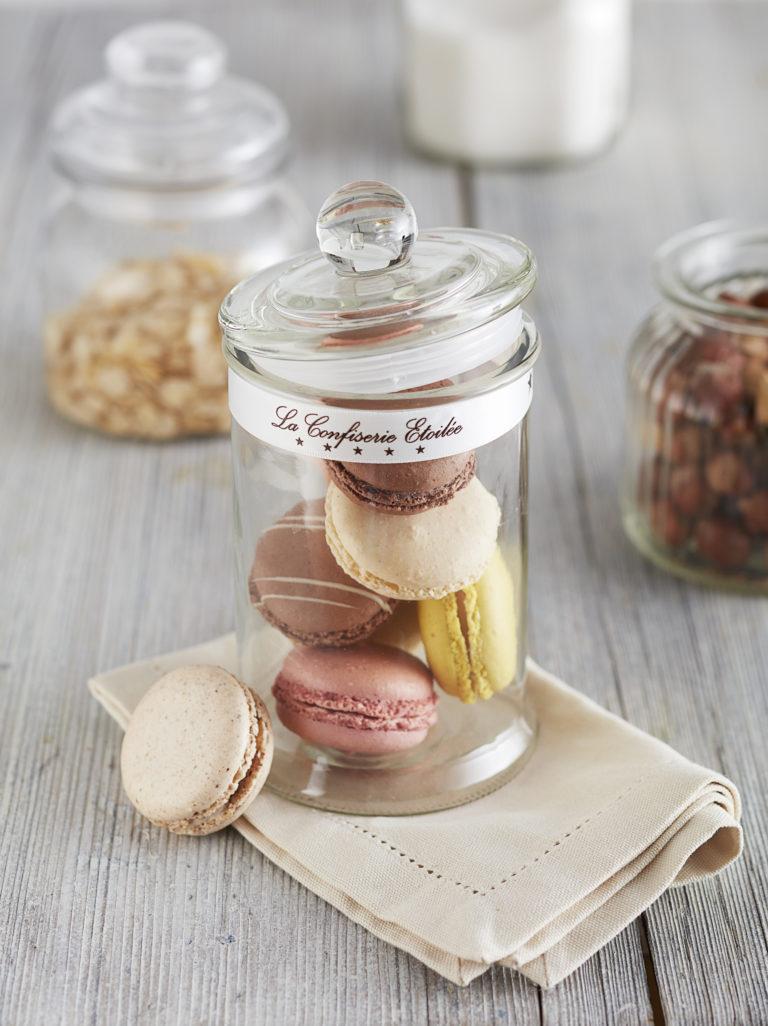 Macarons Foodfotografie Schokolade Mood Glas