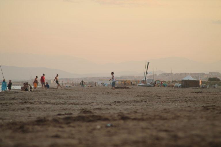 Strand Frankreich Angler