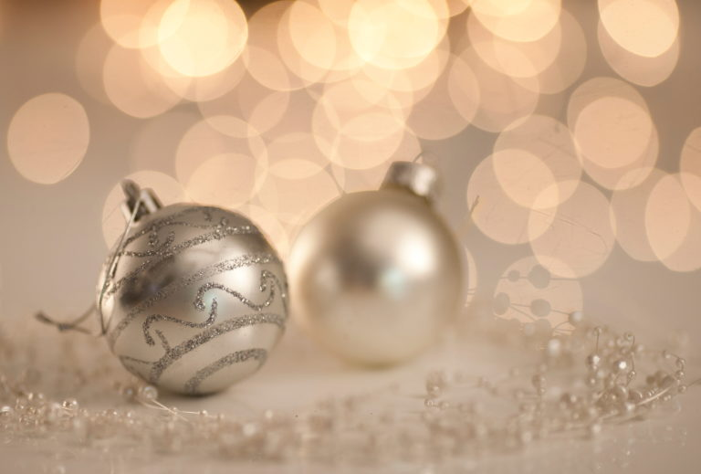 Setup Weihnachtskugeln Deko Bokeh